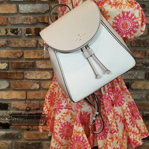 Warm Beige Parchment Kate Spade Leila MD Backpack